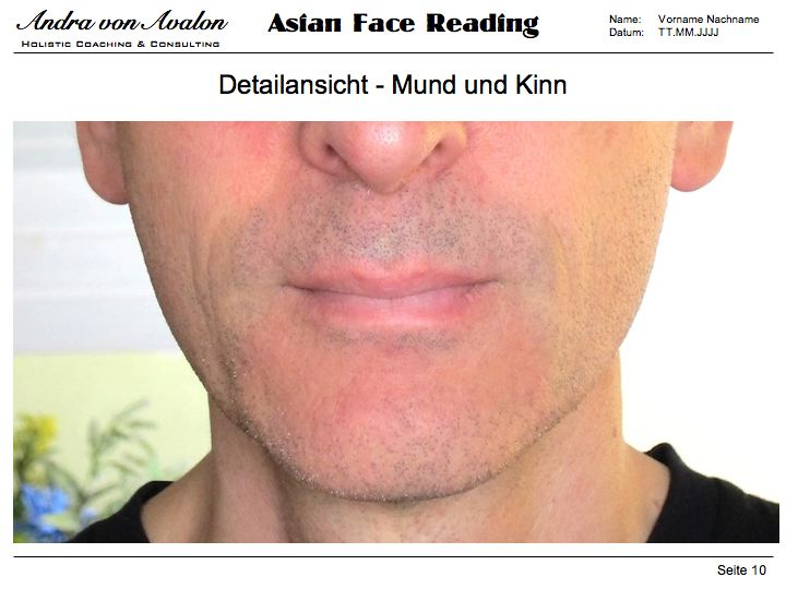 Asian Face Reading - Einzelberatung - Detailansicht Nase & Mund