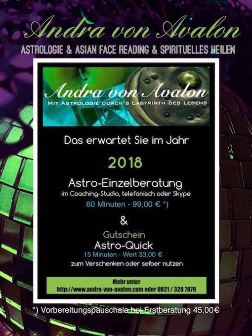 Neujahrsangebot Astrologie 2018