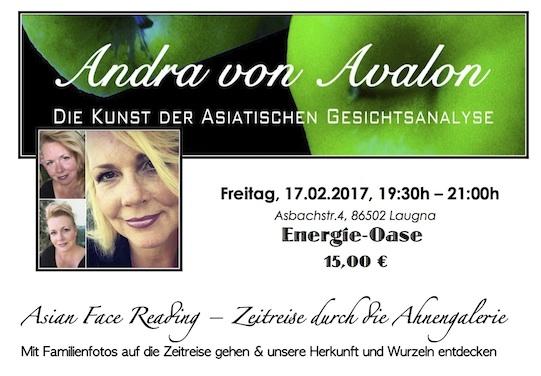 Bild von Andra und dem Vortragsthema am 17.02.2017 um 19:30h