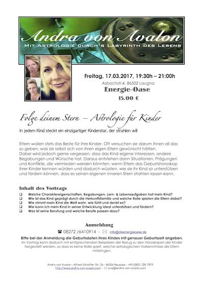 Bild von Andra und dem Vortragsthema am 17.03.2017 um 19:30h