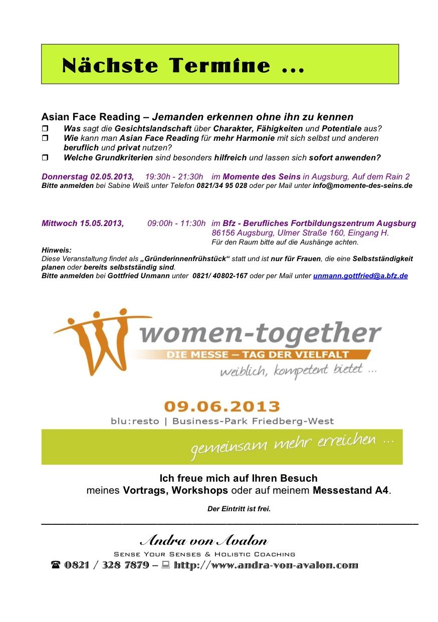 Seminare & Workshops von und mit Andra von Avalon