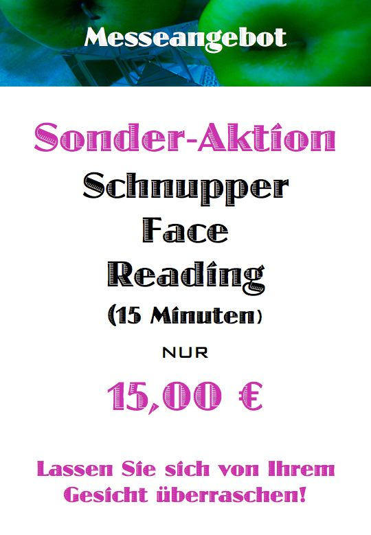 Messeangebot Schnupper Face Reading