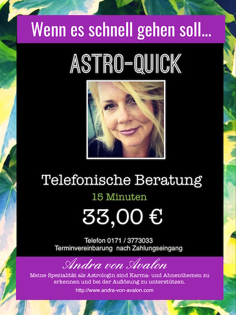 AstroQuick - 15 Minuten Telefonberatung für 33,00 €
