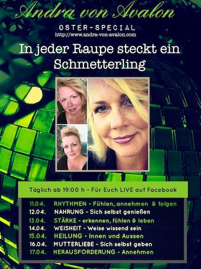 Andra von Avalon - Programm Live-Oster-Special Live - 11.04. - 17.04.17 - täglich um 19.00h LIVE auf Facebook